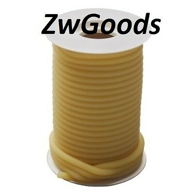50 Feet 14 I.d X 116 Wall X 38o.d Natural Latex Tubing Amber Rubber Tube