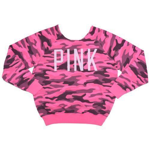 Pink camouflage hoodies