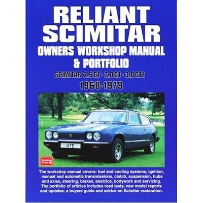 Reliant Scimitar Owners Workshop Manual & Portfolio 1968-1979 book paper