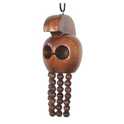 Large Hawaiian Hand Carved Koa Wood Ikaika Warrior Helmet