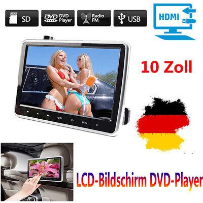 10 HDMI Auto DVD Player Digital LCD Bildschirm Kopfstütze Monitor USB/SD/IR/FM