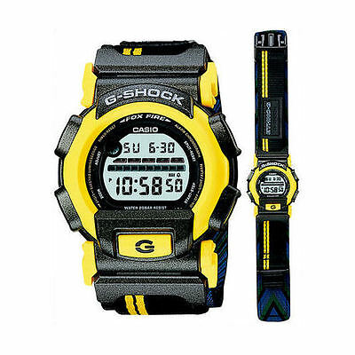 NEW Casio G-Shock Ethno G Series 1997 FOXFIRE NEXAX DW003E9CT Black Yellow Watch for sale  Shipping to Canada