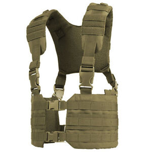 CONDOR-MOLLE-Modular-Tactical-Nylon-Ronin-Chest-Rig-Vest-mcr7-COYOTE-TAN