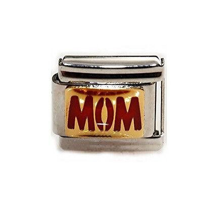 (Red Mom Italian Link Bracelet Charm)