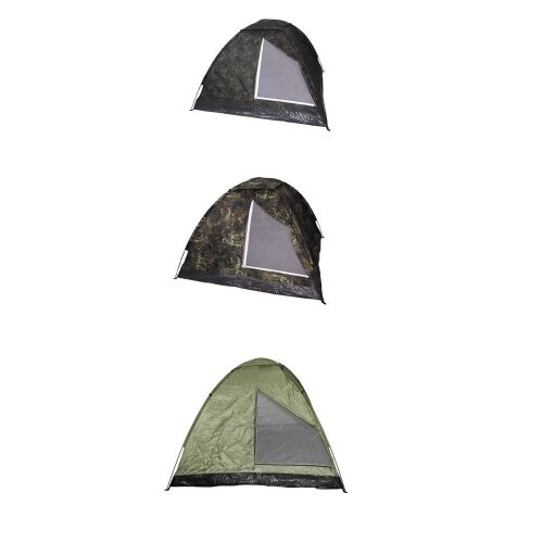 MFH tienda túnel montaña negra verde oliva tamaño 210 x 90 x 90 cm 1 persona Camping