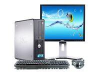FAST COMPUTER SET PC UP TO 8GB RAM 500GB HDD WIFI CHEAP WINDOWS 7 MONITOR