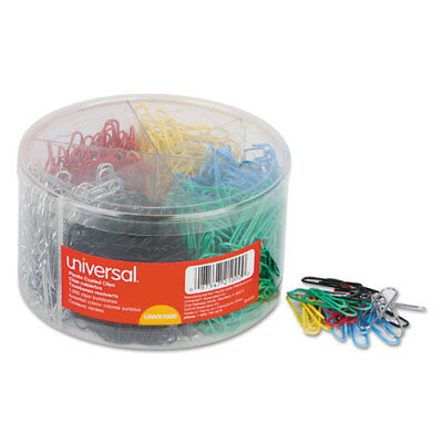Plastic-coated Wire Paper Clips No. 1 Assorted Colors 1000pack