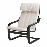 New Ikea Poang Chair - black/brown