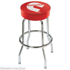 Dodge Mopar Red Bar Stool Chair Shop Work Bench Diesel Cummins Garage Swivel Top Ebay