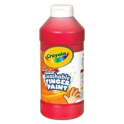 16 Oz Finger Paint (Crayola Washable Finger Paint - Red (16 oz. Plastic Bottle) )