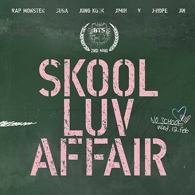BTS-[SKOOL LUV AFFAIR] 2nd Mini Album CD+Photo Card+115p Booklet+Gift+Tracking