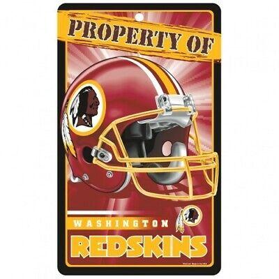 WASHINGTON REDSKINS ~ Property of Wall Display Helmet 7.25 x 12 Sign Decoration - Redskins Decorations