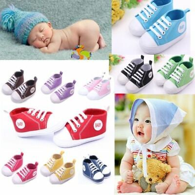 0-12Months New Infant Toddler Sneakers Boy Girl Soft Sole Cr
