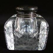 Cut Glass Inkwell