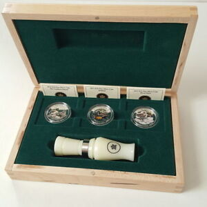 Fine Silver Coins - Ducks of Canada 3-Coin Set with Duck Call