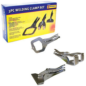 3PC WELDING CLAMP PLIER SET CLAMP MOLE VICE GRIP LOCKING PLIERS C METAL SHEET
