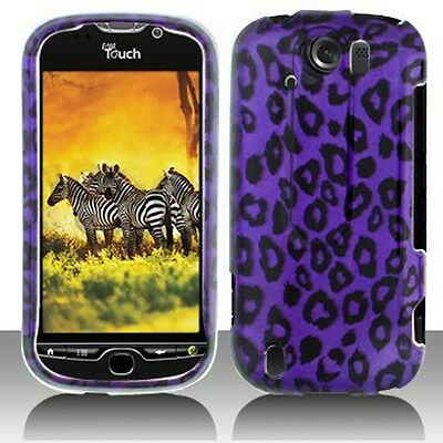 For T Mobile Mytouch 4G Slide Hard Protector Case Phone Cover Purple Cheetah