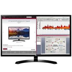 "LG 32MA68HY-P 32"" 1080P IPS Monitor DP HDMI d-sub USB 2.0 (Factory Refurbished)"