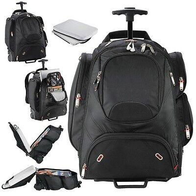 "Elleven Wheeled Security-Friendly 17"" Compu-Backpack, Black 17"" Laptop Bag - New"