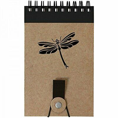 2 Flip Mini Spiral Notebook Dragonfly Insect Design 70 Blank Pages - Hard Cover
