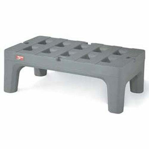 """Poly BowTie Dunnage Rack with Microban, 36""""D, 1500 lbs. Capacity"""