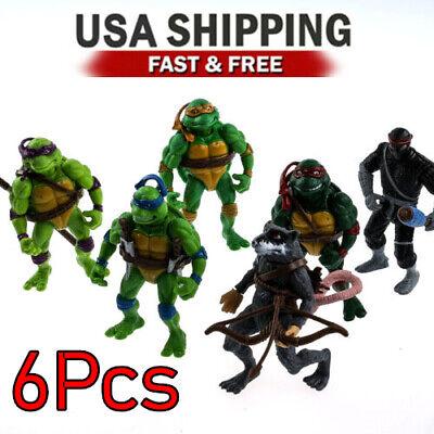 6pcs Teenage Mutant Ninja Turtles Action Figures Classic Collection Toy Set