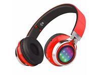 Riwbox WT-07 Folding Stereo Headphones - LED Lights - Wireless Bluetooth - RRP: £79.99