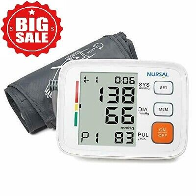 Automatic Arm - Automatic Upper Arm Blood Pressure Monitor Digital Cuff FDA Approved Pulse LCD