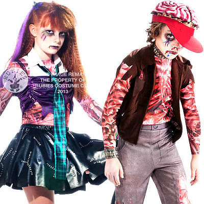 Rock & Roll Zombies Kids Fancy Dress Halloween Boys Girls Childrens Costumes New
