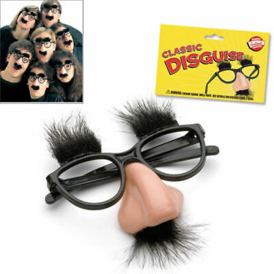 Fuzzy Puss Groucho Marx Beagle Glasses Nose Mustache Hair Funny Disguise Novelty - Mustache Glasses