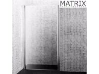 Matrix 800mm Premium Barrel Hinged Shower Door 6mm Glass - PEPV80