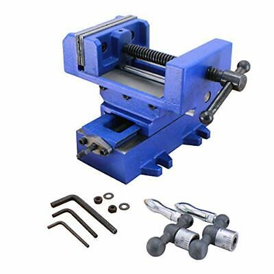 Hfs Compound Cross Slide Industrial Strength Benchtop Drill Press Vise 6in