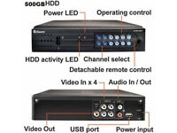Swann 4 Channel BNC connector DVR Twic R/C Brand New 500GB HDD With Manual And Software.