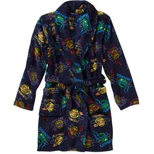 Boy Spiderman Teenage Mutant Ninja Turtles Pajama Bath Robe Size 4 6 6/7 8 10