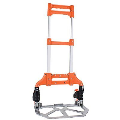 150 Lb. Capacity Aluminum Convertible Hand Cart Truck Folds Down To Just 2