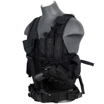 Lancer Tactical CA-310B Cross Draw Vest BB Pistol Gun Holster Airsoft Gear Black