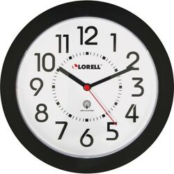 Wall Clock, Arabic Numerals, 9, White Dial/Black Frame LLR60990