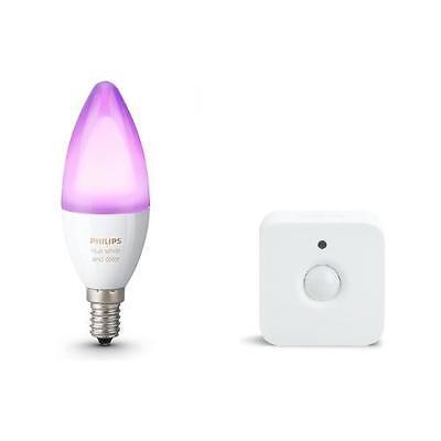 PHILIPS Sensore di Movimento + Hue Lampadine E14 White and Color Ambiance 6.5W