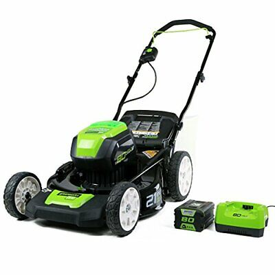 Greenworks PRO 21-Inch 80V Cordless Lawn Mower, 4Ah Battery Charger...