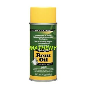 REM OIL 4oz Remington Lubricant Spray w/Teflon ~ Cleaner Gun Firearm Cleaning
