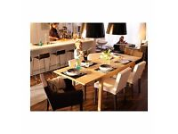 Dining room table- Ikea- seats 4-12 - Extended