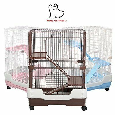 New Homey Pet Small Animals Guinea Pig Chinchilla Ferret Cage Crate House w Tray - House Pet Pigs