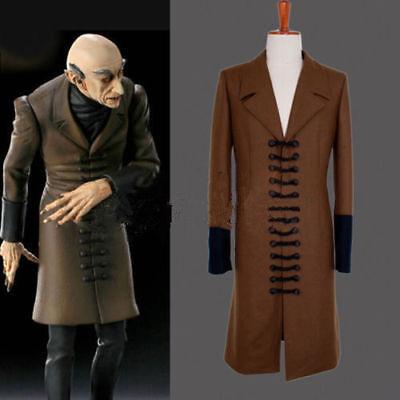 Nosferatu Phantom of the Night Cosplay Jacket Adult Men's Halloween Costume H.10 (Nosferatu Costume)