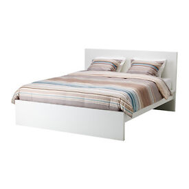 Ikea double bed white