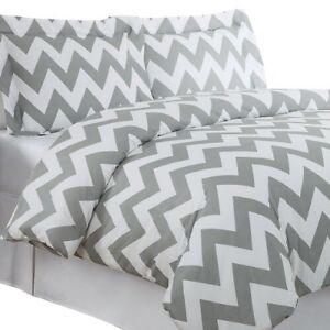 ISO chevron bedding for a single bed