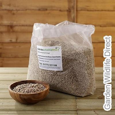 20Kg Premium Sunflower Hearts Bakery Grade Garden Bird Seed Wild Bird Food