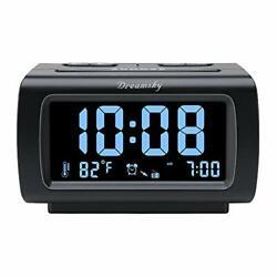 DreamSky Decent Alarm Clock Radio with FM Radio, USB Port for Charging, 1.2 Inch