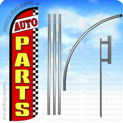 Auto Parts - Windless Swooper Flag 15 Kit Feather Banner Sign - Rz