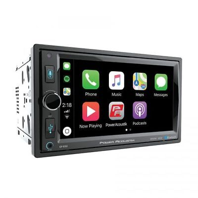Power Acoustik Double 2 Din CP-650 DVD/CD Player Apple CarPlay Bluetooth USB AUX