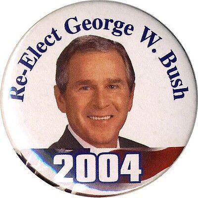 2004 George W  Bush Re Elect Campaign Button  2036